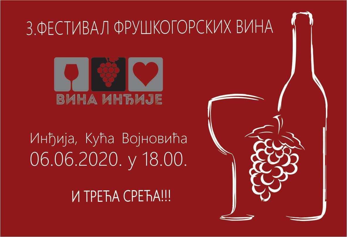Vina Inđije: 3. festival Fruškogorskih vina ODLOŽEN