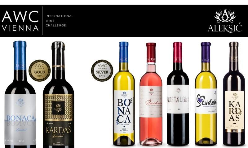 Nove nagrade za vinariju Aleksić